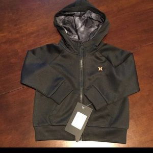 NEW Hurley Black Zip Up Hoodie 2T